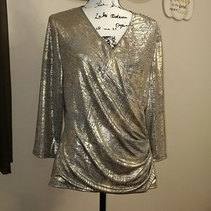 Dressbarn Champagne Gold Blouse